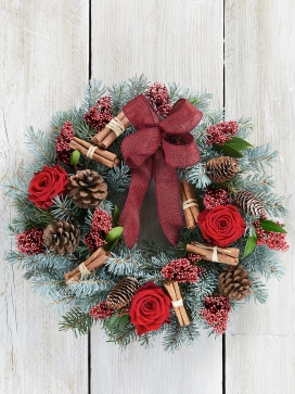 Rocking Rose Door Wreath