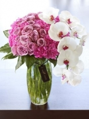 Luxury Rose and Phalaenopsis Orchid Vase