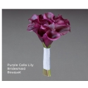 Purple Calla Lily Bridesmaid Bouquet