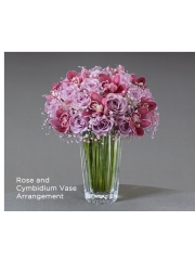 Rose and Cymbidium Vase Arrangement