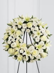 White Tribute Wreath