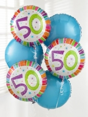 50t Birthday Balloon Bouquet