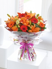 Large Happy Birthday Glorious Shades Hand-Tied
