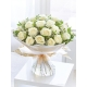 Heavenly White Rose Hand Tied